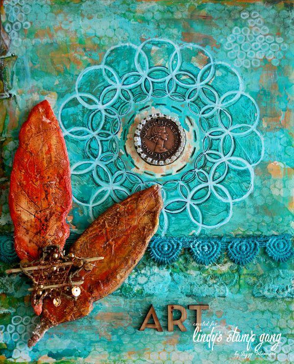 Venetian Plaster Journal Cover by Lizzy Wurmann G