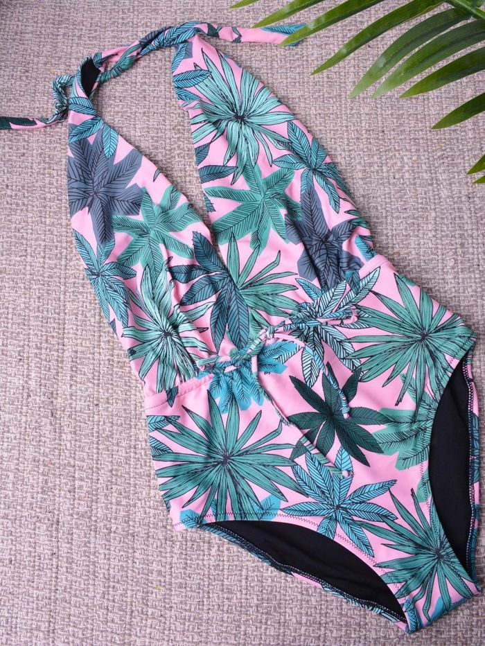 4ef6bd2e1be M1956 Μαγιό ολόσωμο με floral σχέδιο - Decoro - Γυναικεία ρούχα ...