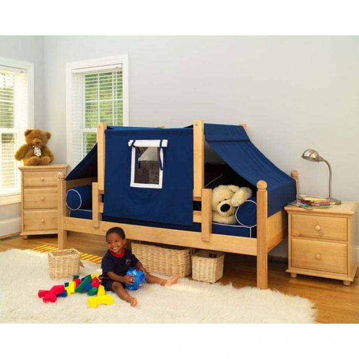 Maxtrix Kids Twin Daybed / Toddler Bed with Top Tent Yo