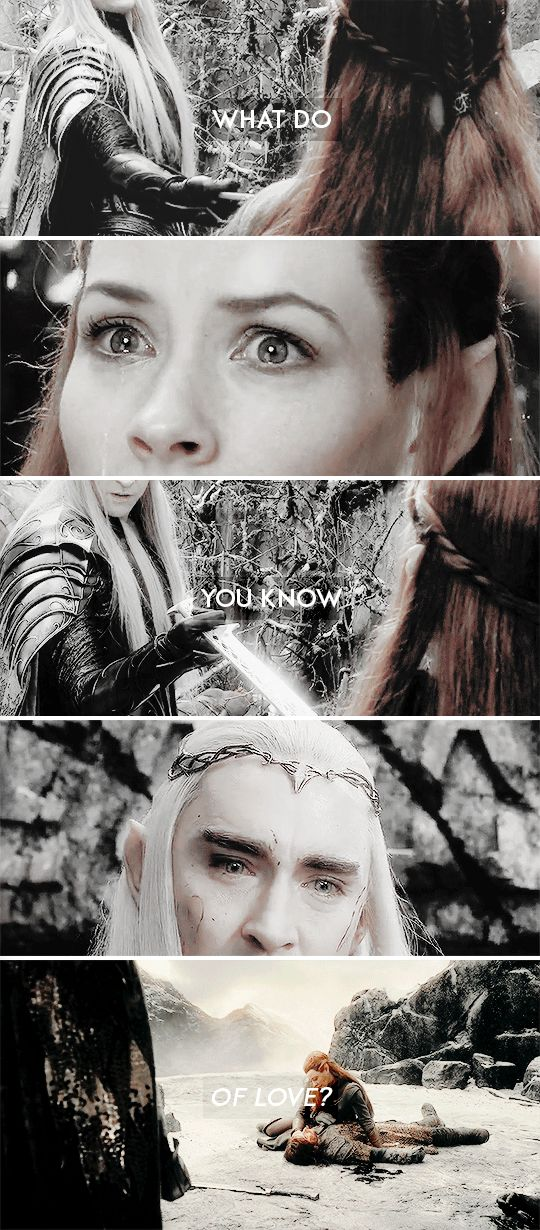 If this is love, I do not want it. Take it away, please! #thehobbit
