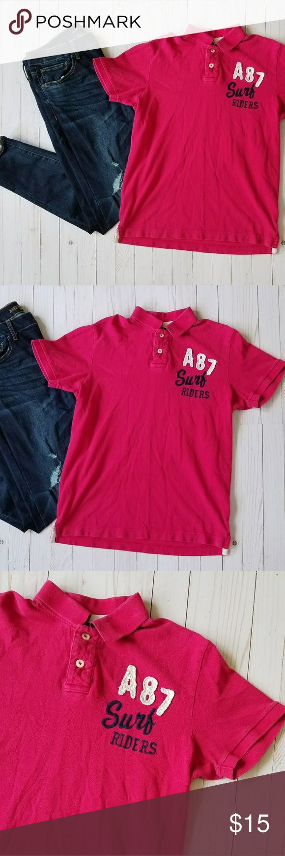 Aeropostale men's polo In good condition, a little faded/worn out. Aeropostale Shirts Polos