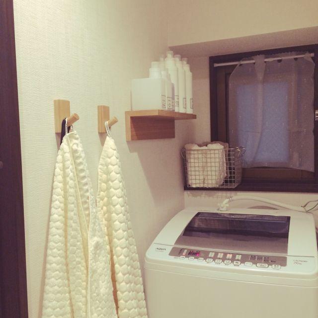 これで解決! ぬれたバスタオル&バスマットの置き場所 | RoomClip mag | 暮らしとインテリアのwebマガジン