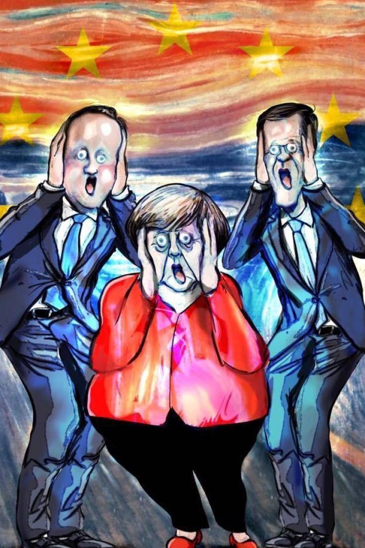 Diese grandiose Merkel-Karikatur zeigt, was der Brexit mit Europa macht