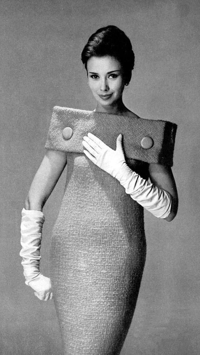 boucle sheath by Pierre Cardin, photo Georges Dambier, 1959