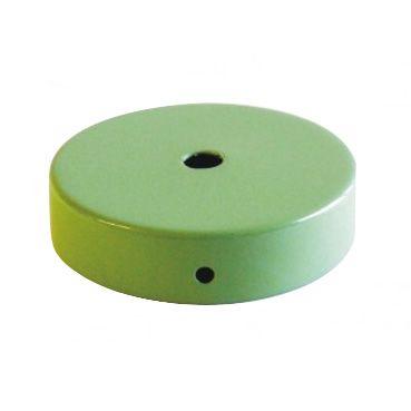 Comprar | Florón de techo metálico color verde 80mm | Rosetones metal colores #handmade #decoracion #lamparas #accesorioslamparas #iluminacion #fabricartulampara