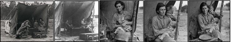 1930s Great Depression photos by Dorothea Lange - this is the woman of the Migrant Mother photo