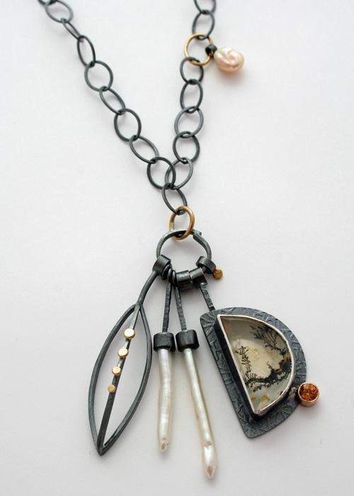 Black & White Cluster necklace - Sydney Lynch