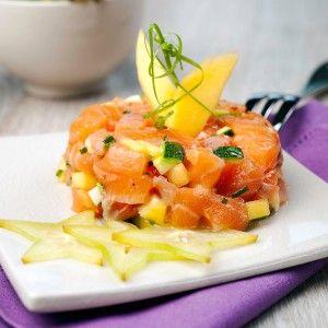 Un tartare mangue saumon #recette