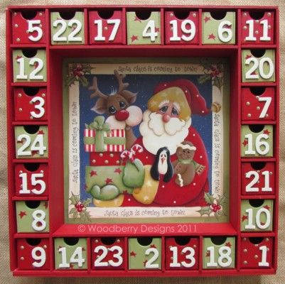 I got myself the Kaiser Craft Advent Calendar kit - now to make and decorate it...this looks good!