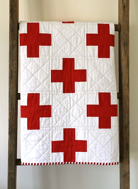 St. George's Cross. {A Baby Quilt} Made by Erica Sage of Craftyblossom