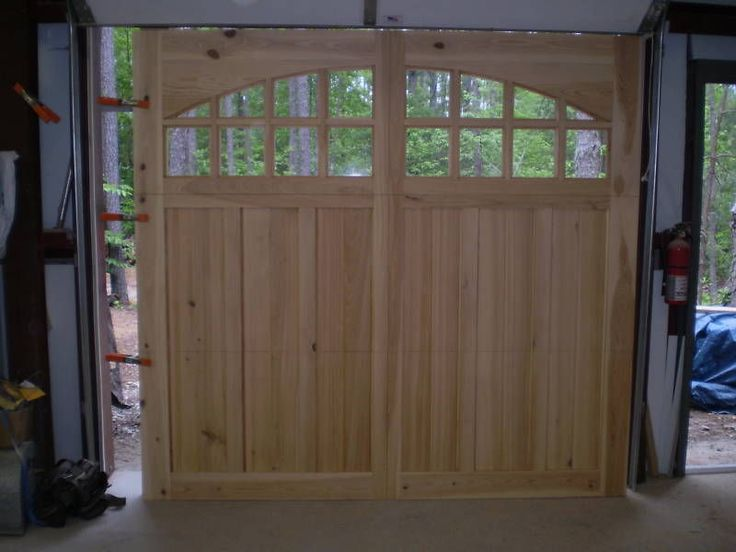 25 best ideas about 9x7 garage door on pinterest wood for Build carriage garage doors