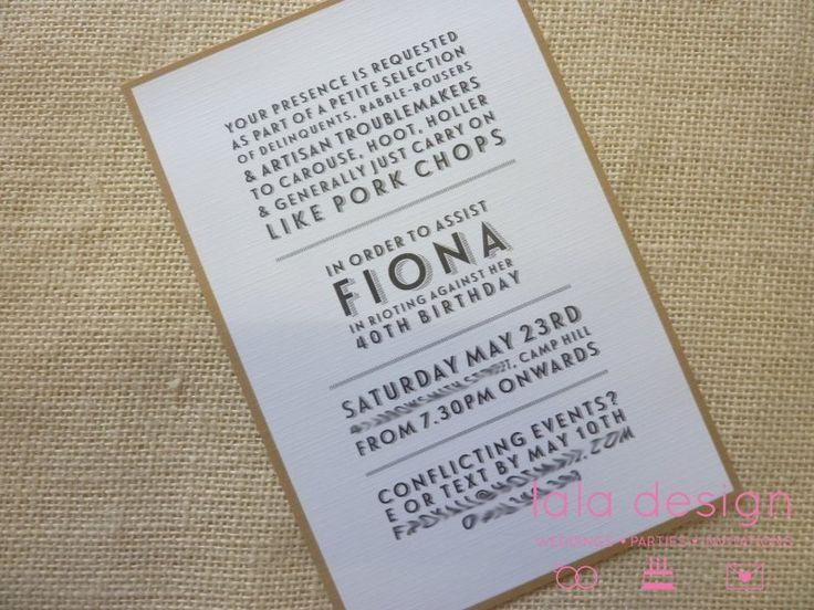 Fiona 40th