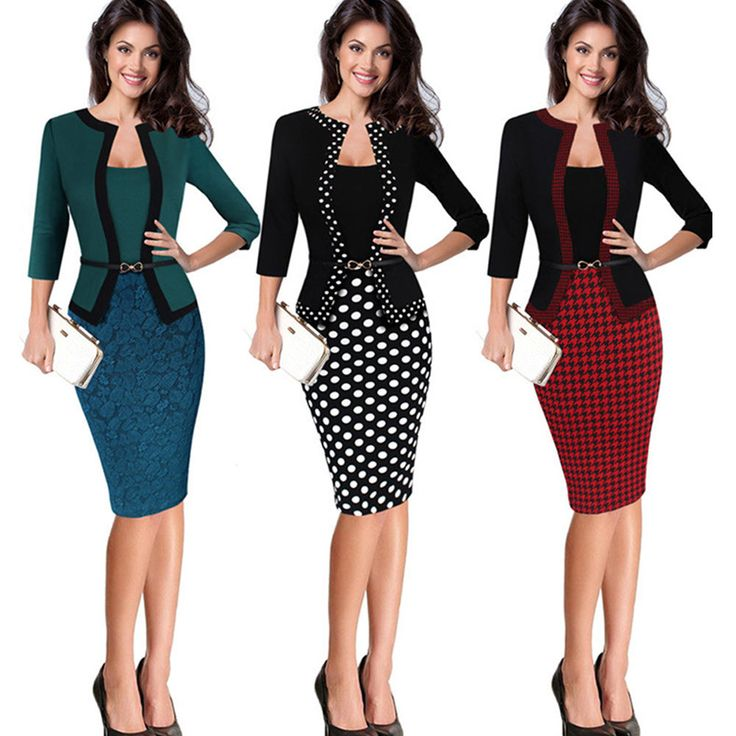 Plus Size Women's Office Bodycon Pencil Midi Dress Evening Party Cocktail Dress | Clothing, Shoes & Accessories, Women's Clothing, Dresses | eBay!