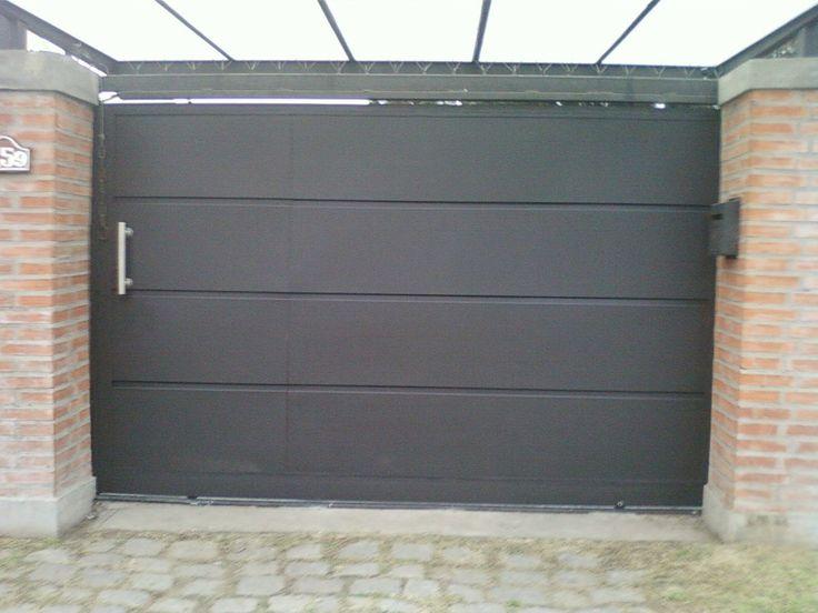 Portones corredizos buscar con google porton for Puertas de madera para garage