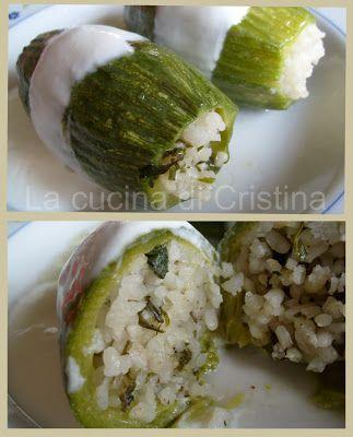 Zucchini ripieni con riso - Dovlecei umpluti cu orez - Stuffed zucchini/courgettes with rice