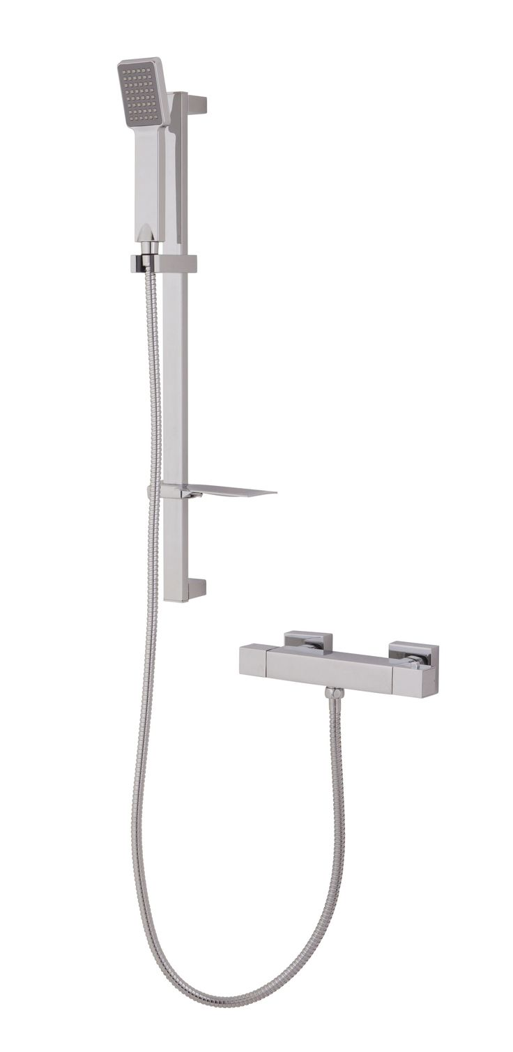 Cooke & Lewis Siony Chrome Effect Bar Mixer Shower | Departments | DIY at B&Q