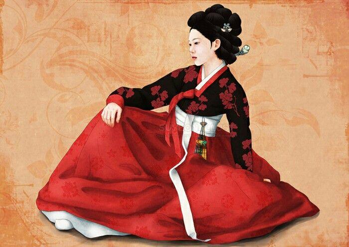 한복 일러스트 hanbok illust (photoshop painting)