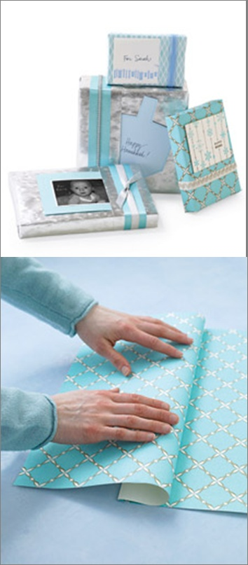 Gift Wrap with Built-In Pockets for Gift Cards / Martha Stewart