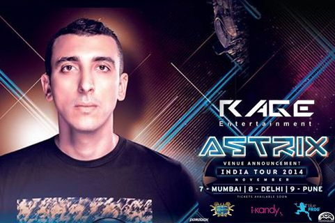 Enjoy psychedelic trance music from DJ Astrix live in Mumbai. Astrix is an international trance music producer specialized in psychedelic trance who makes big waves throughout electronic dance music. Astrix is one of the popular EDM artist of the millennium Playing live and spinning his psy trance music around the world.