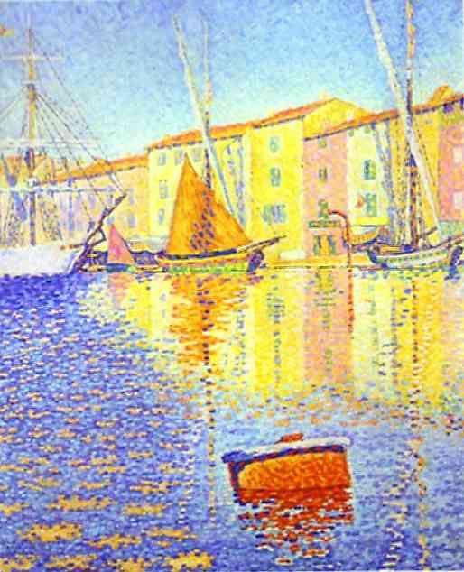 Pointillisme - Paul Signac - La bouée rouge