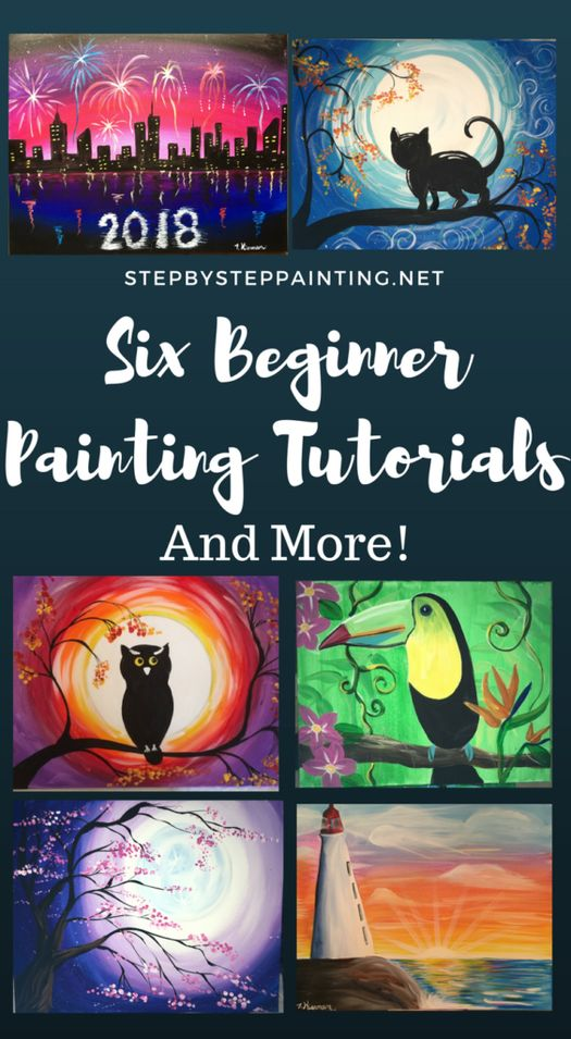 Here you will find step by step canvas painting instructions for the absolute beginner! These