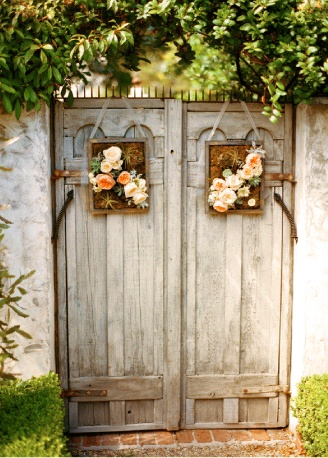 hanging floral picture frames garden gates wedding events parties decor