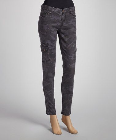 Loving this Black Camo Skinny Pants on #zulily! #zulilyfinds