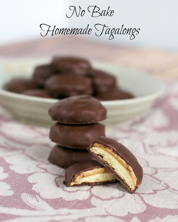 No Bake Homemade Tagalongs