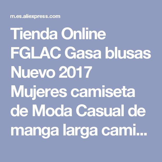 Tienda Online FGLAC Gasa blusas Nuevo 2017 Mujeres camiseta de Moda Casual de manga larga camisa de la gasa Elegante Delgada del color Sólido de señora blusas camisa | Aliexpress móvil