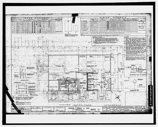 This photocopy of an engineering drawing shows the floor