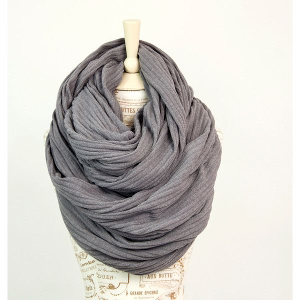 Oversized Infinity Scarf, Grey Gray Scarf Chunky Scarf, Large Scarf,... (2.490 RUB) ❤ liked on Polyvore featuring accessories, scarves, chunky infinity scarves, chunky circle scarf, tube scarf, loop scarves and loop scarf