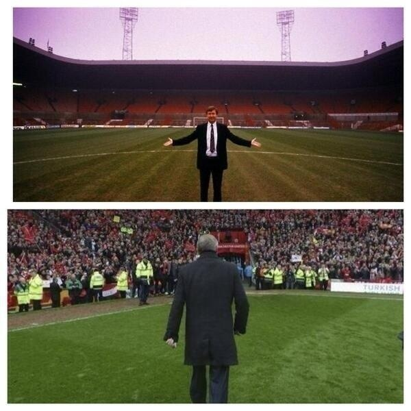 Alex Ferguson. First and last day.