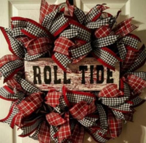 Alabama Wreath Roll Tide Wreath Alabama Crimson Tide