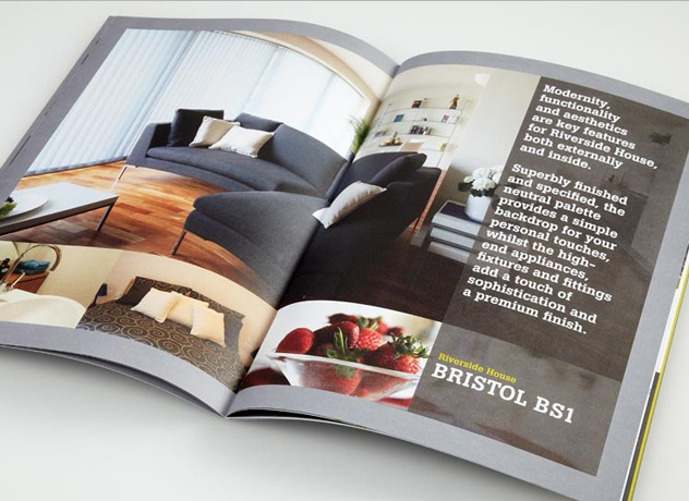 Interiors Spread For A Property Sales And Marketing Brochure