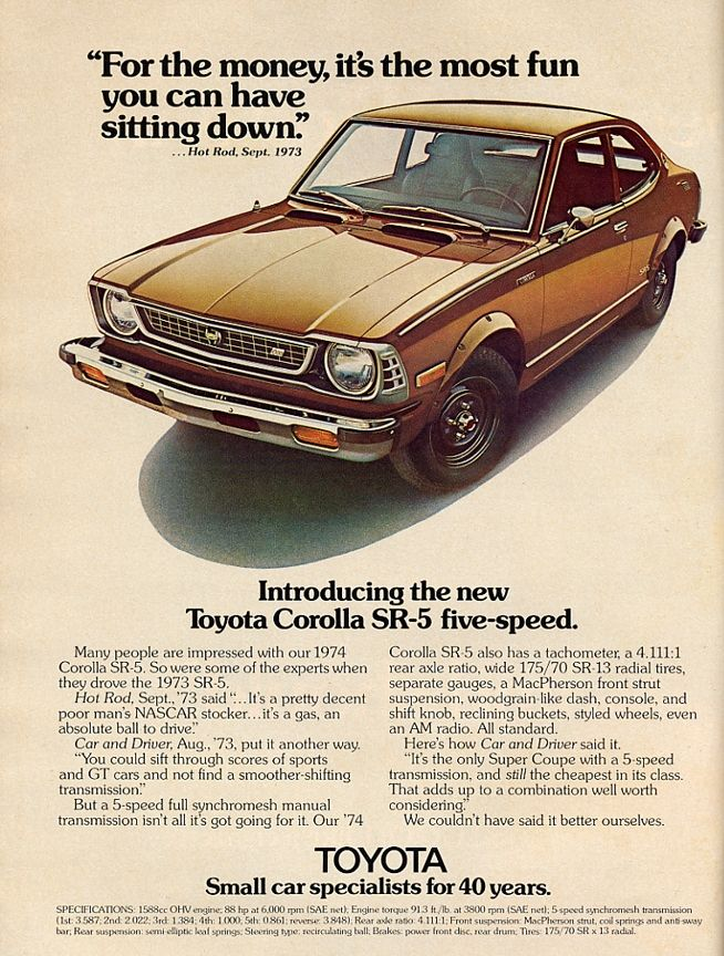 1974 Toyota Corolla #Toyota #Corolla