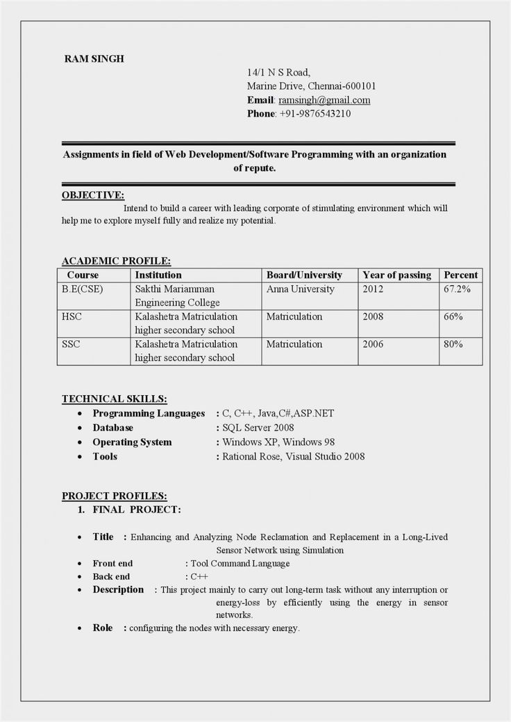 10 Engineer Resume Headline in 2020 Resume format for