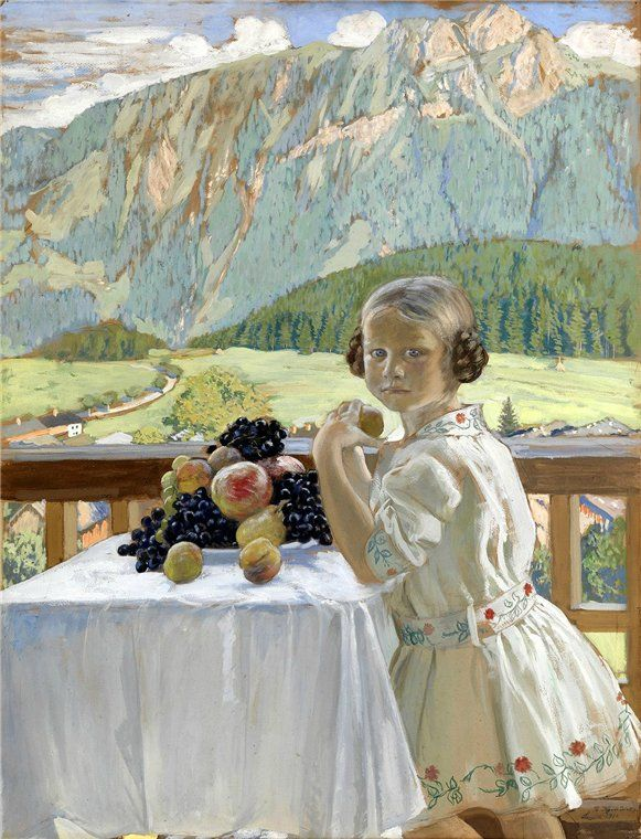 Кустодиев Б.М. Портрет Ирины Кустодиевой 1911