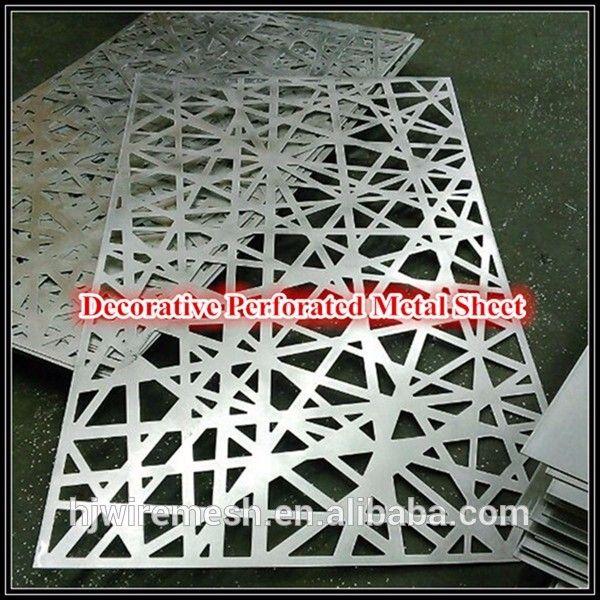 Laser cut metallo perforato schermo/schermi decorativo taglio laser