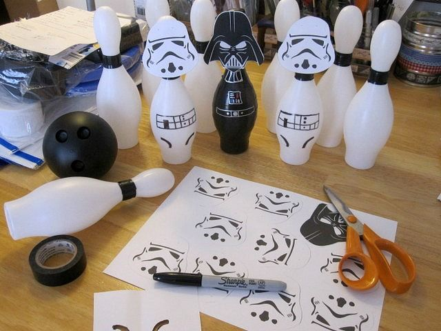 Star Wars Bowling Storm Trooper Bowling and other games/craft ideas