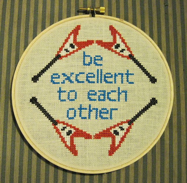 Bill $ Ted!!! This website has so many fun ideas for counted cross stitch patterns!!