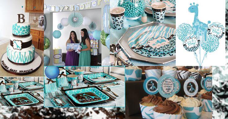Blue Safari Baby Shower Sisters Shower Pinterest