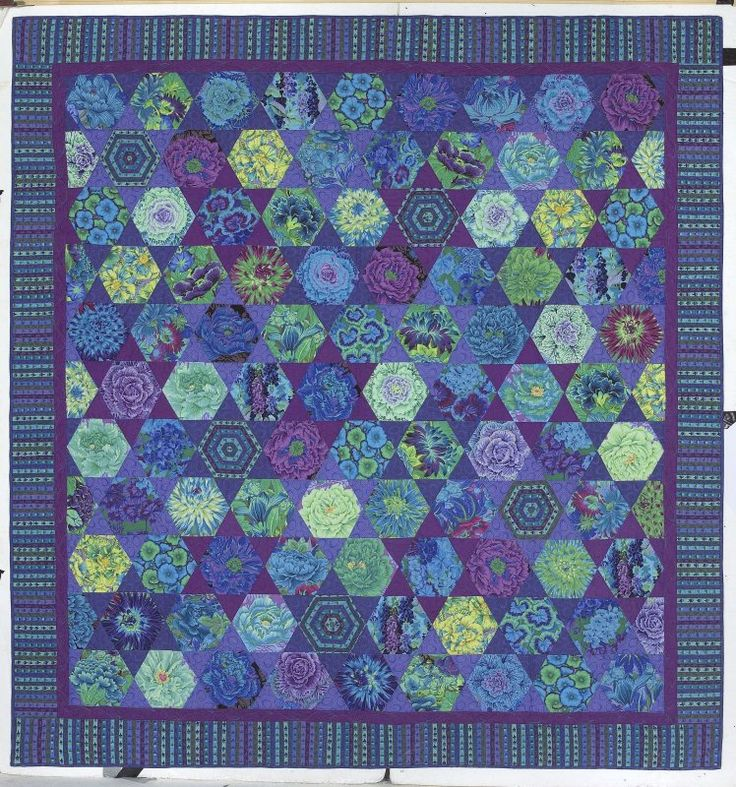 """Moroccan hexagons from Kaffe's newest book """"Quilts in Morocco"""