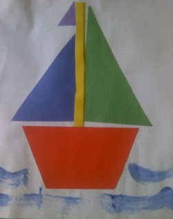 Crafts For Preschoolers: Shape Sailboat! #BGMC alternative for preschoolers when studying Fiji