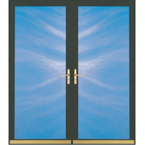 ChamberDoor Century Series Black Mortised Double Storm Door Kit at Menards