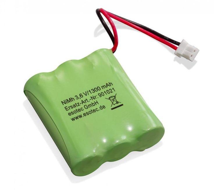 Akkupack 3 Mignon AA Stecker NiMH Esotec Solarleuchten-Pack 3.6V 1300mAh 901021