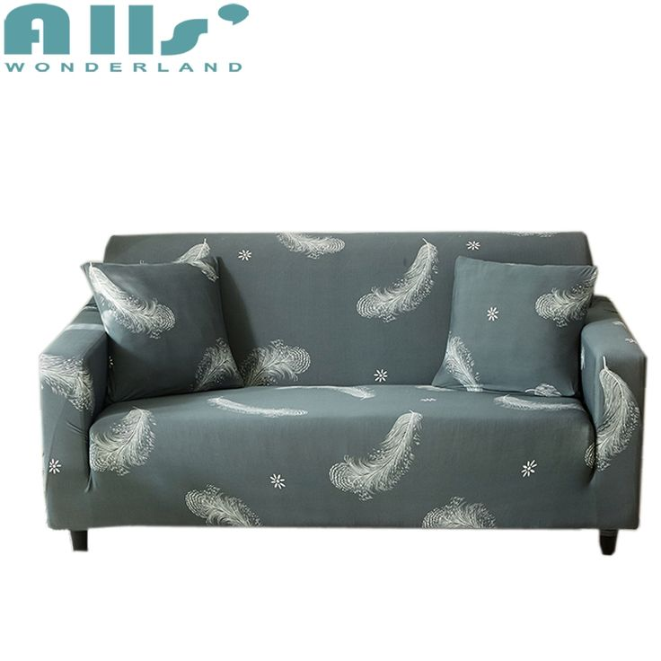 Grey Feather L Shape Modern Sofa Slipcovers Sectional Sofa Cover Need To Choose 2 Pcs Couch Cover With Elastic Sliprco With Images Sofa Covers Modern Sofa Couch Covers