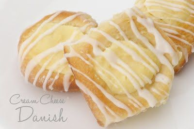Easy cream cheese danish {using croissant dough or from scratch}