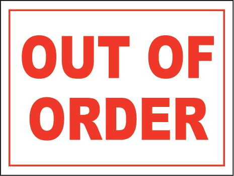 image relating to Restroom Out of Order Sign Printable known as out of invest in indicator template -