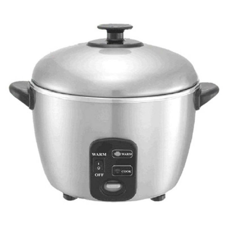 Sunpentown SC-887 6 Cup Stainless Steel Rice Cooker and Steamer - SC-887