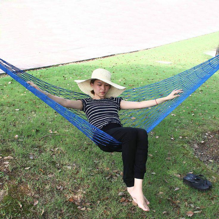 $26.83 (Buy here: https://alitems.com/g/1e8d114494ebda23ff8b16525dc3e8/?i=5&ulp=https%3A%2F%2Fwww.aliexpress.com%2Fitem%2FOutdoor-camping-double-mesh-hammock-bold-dormitory-bedroom-cotton-swing-bed%2F32713873336.html ) Hot selling multicolor outdoor camping  mesh hammock student dormitory bedroom swing mesh hammock for just $26.83